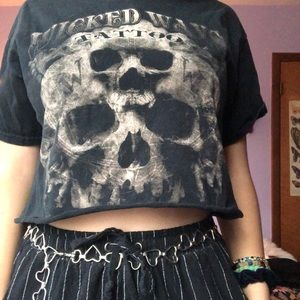 Vintage cropped wicked ways tattoo tee